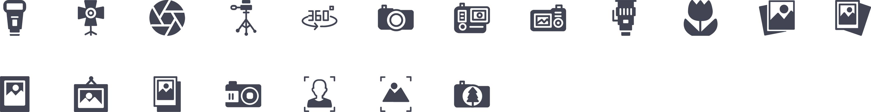 Camera Glyph Icons