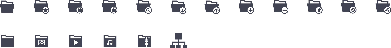 Folders Glyph Icons