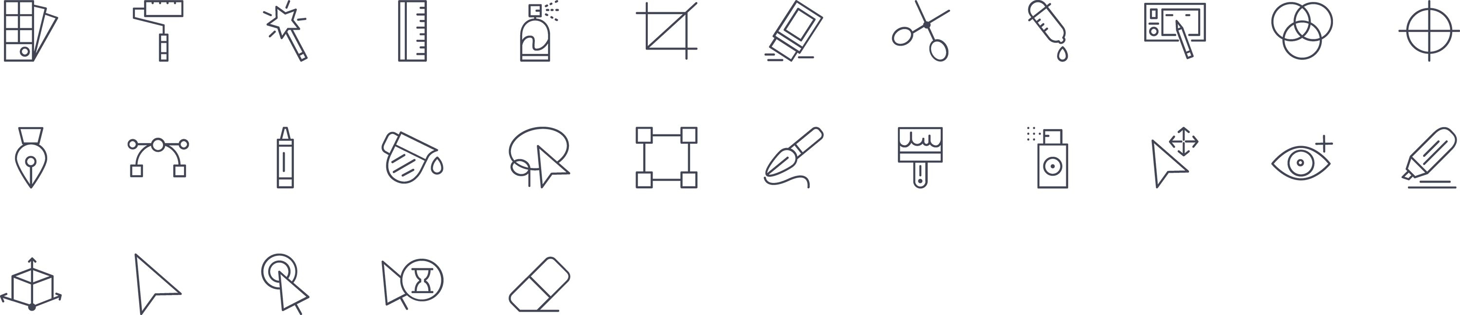 Graphic Tools Line Icons