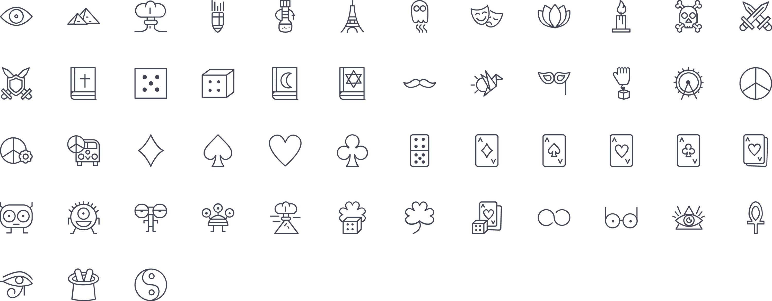 misc Line Icons