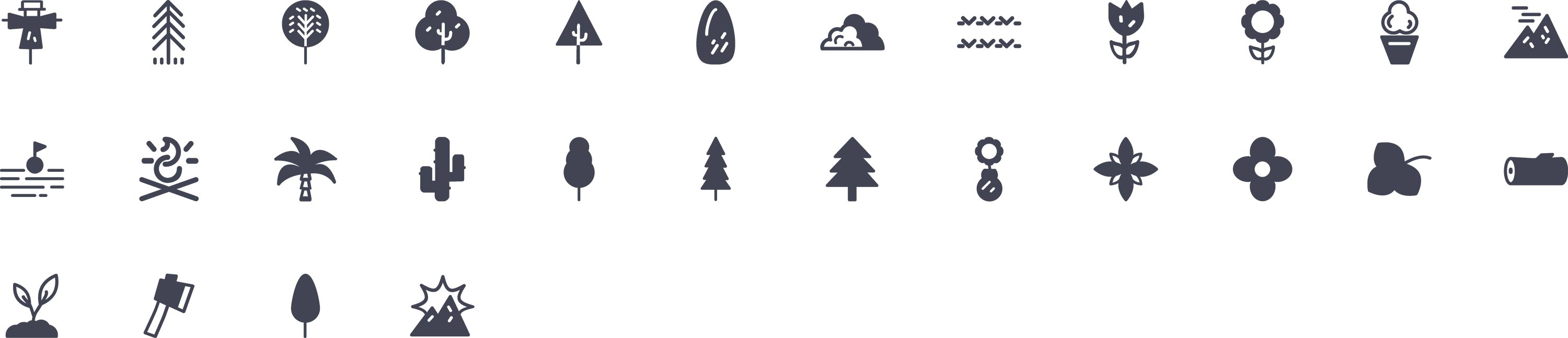 Nature Glyph Icons
