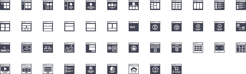 UI Design Glyph Icons