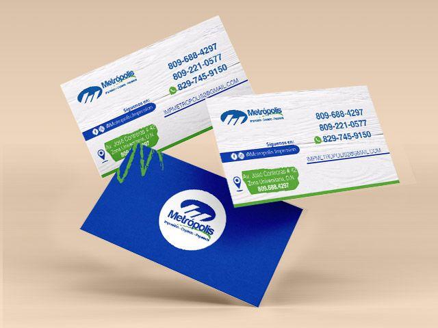 tarjetas de presentacion impresion digital full color