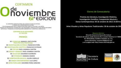 Photo of Se abre la convocatoria para participar en el certamen 20 de noviembre 2012.