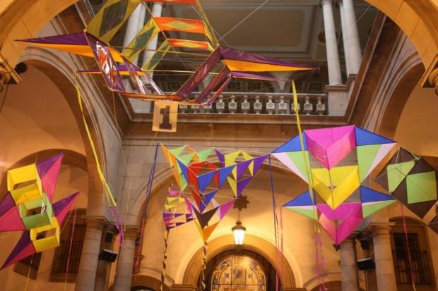 Papalotes en el Patio del Centro Cultural Palacio Municipal