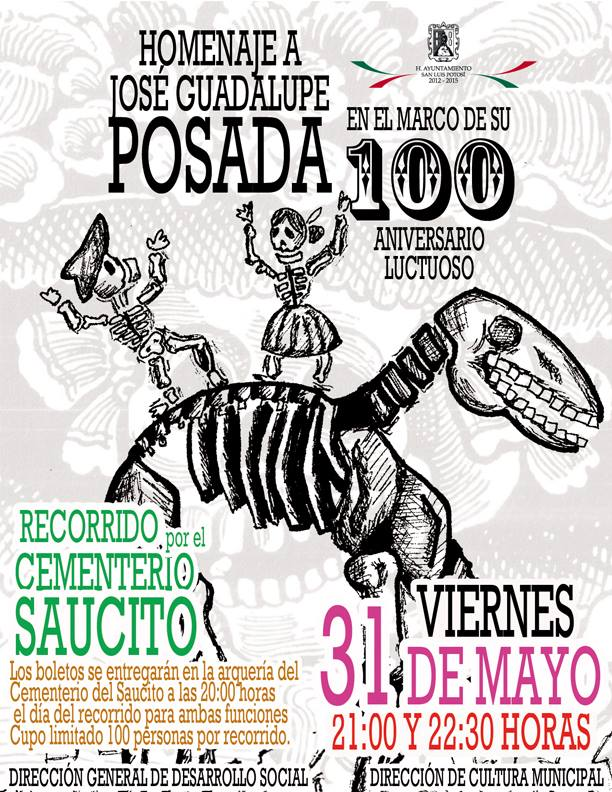 invitación recorrido Saucito - Jose Guadalupe Posada