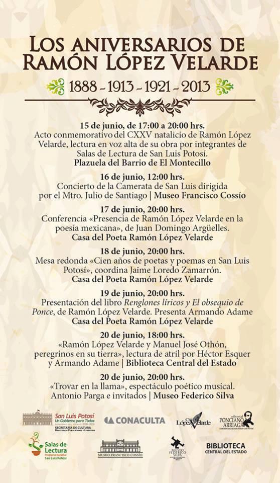 Los aniversarios de Ramón López Velarde