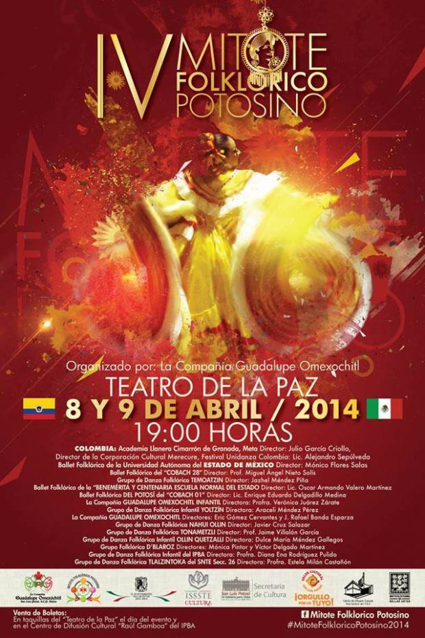 IV Mitote Folclorico poster