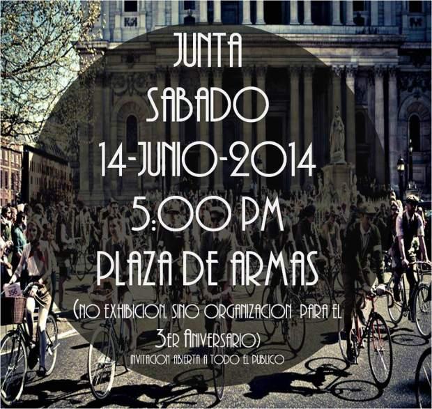 Junta para el 3 Aniversario de Bicicletas Antiguas SLP @ Plaza de las Armas | San Luis Potosí | San Luis Potosí | México
