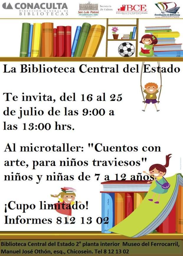 Cuentos con arte para niños traviesos @ Biblioteca Central del Estado  | San Luis Potosí | San Luis Potosí | México