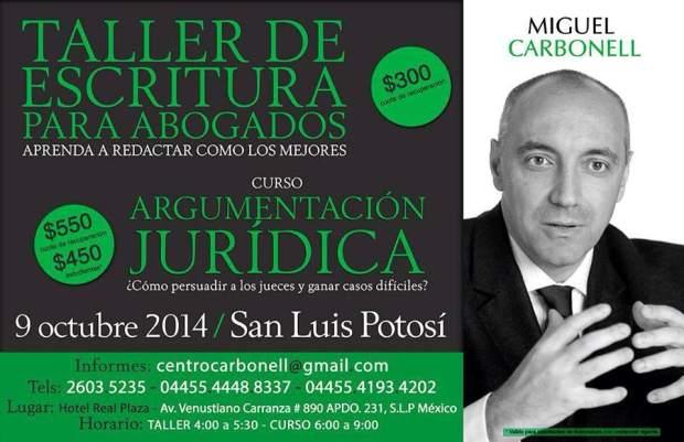 Taller de escritura para abogados @ Hotel Real Plaza | San Luis Potosí | San Luis Potosí | México