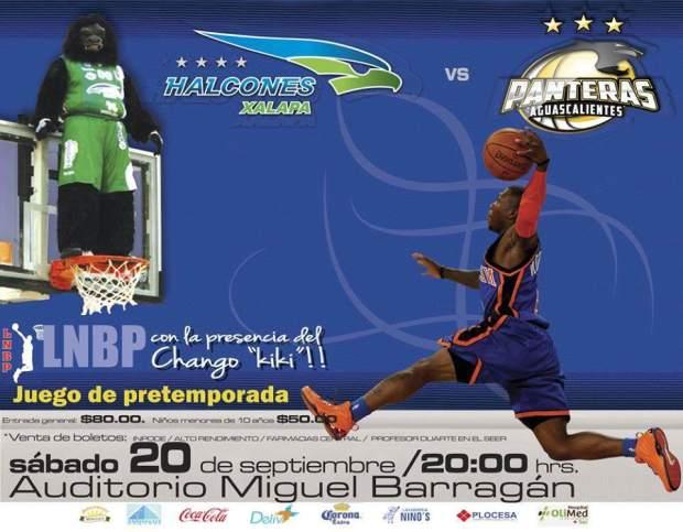 Halcones de Xalapa vs Panteras de Aguascalientes @ Auditorio Miguel Barragán