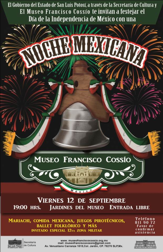 noche mexicana Museo Francisco Cossío CARTEL
