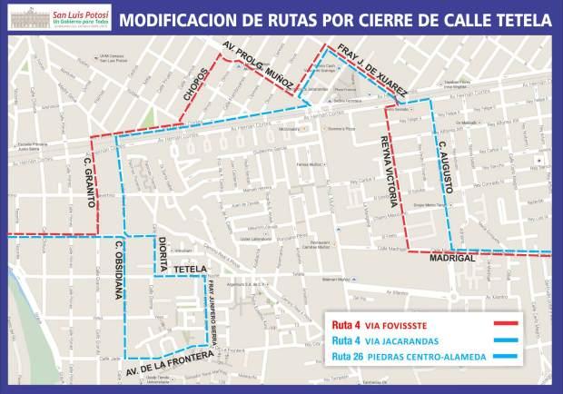 4.-MODIFICAN RUTAS DE TRANSPORTE URBANO