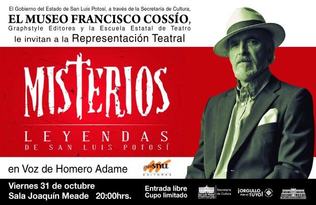 Representación teatral Misterios Leyendas de San Luis potosí