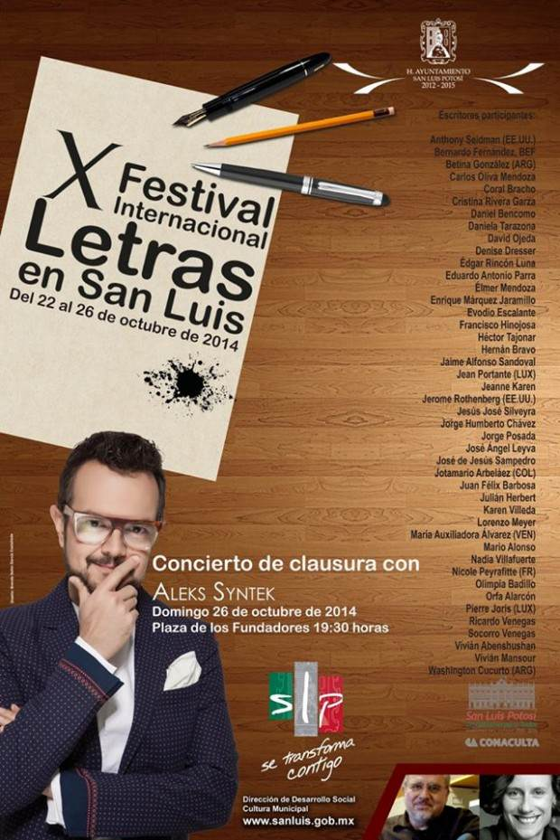 X Festival Internacional de Letras SLP
