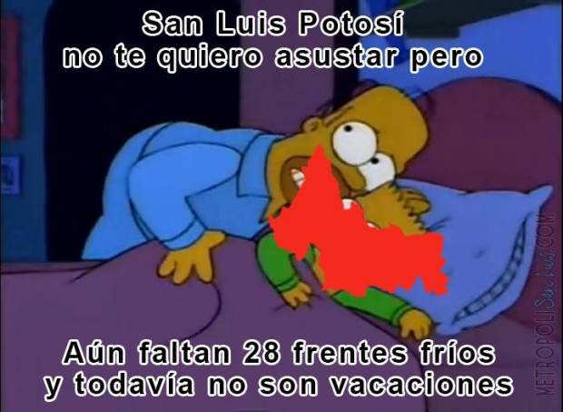 Frío en San Luis Potosí meme