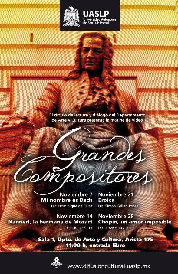 Ciclo de cine : Grandes Compositores @ Dpto. Arte y Cultura, UASLP   San Luis Potosí   San Luis Potosí   México