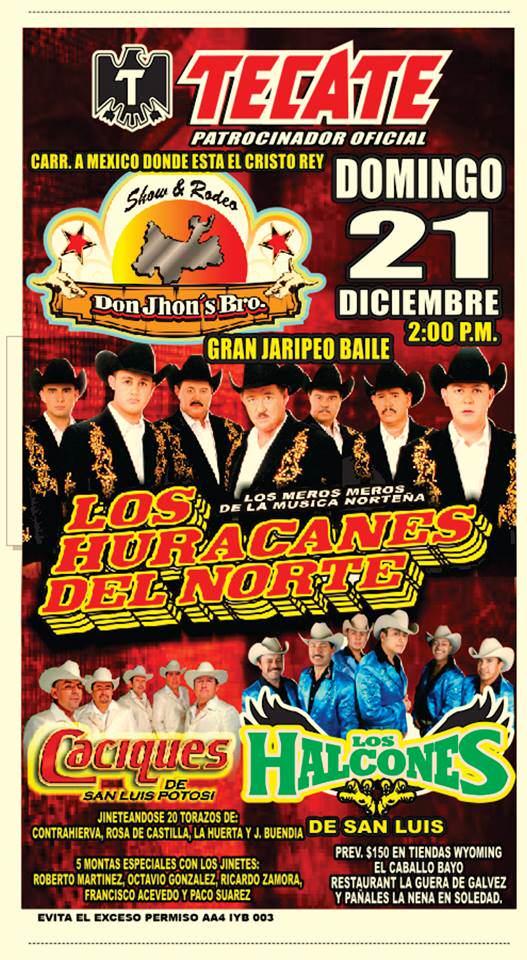 Jaripeo: Los Huracanes del Norte  @ San Luis Potosí | San Luis Potosí | México