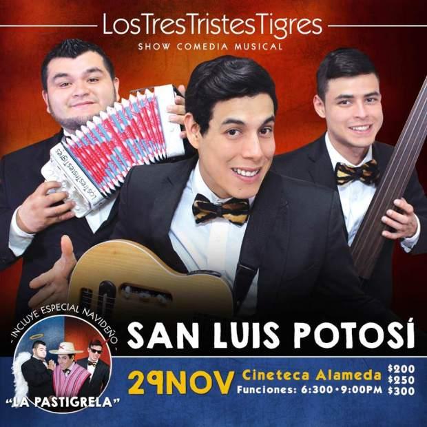 Los Tres Tristes Tigres en San Luis Potosí  @ Cineteca Alameda   San Luis Potosí   San Luis Potosí   México