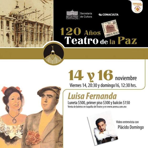 Luisa Fernanda  @ Teatro de la Paz | San Luis Potosí | San Luis Potosí | México