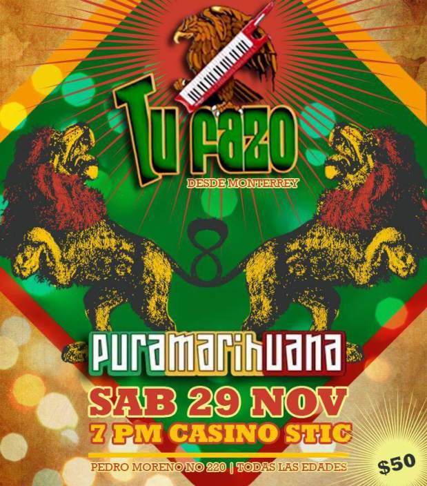 Tu Fazo y Pura Marihuana @ Casino Stic   San Luis Potosí   San Luis Potosí   México