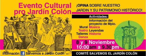 evento cultural pro jardín