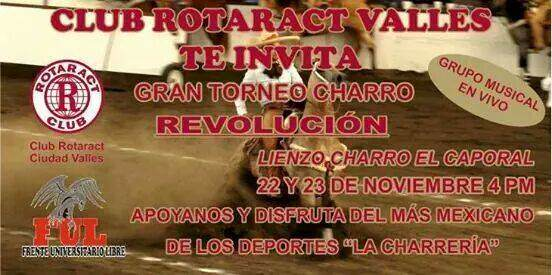 Torneo Charro Revolucionario Rotaract @ Lienzo Charro | San Luis Potosí | San Luis Potosí | México
