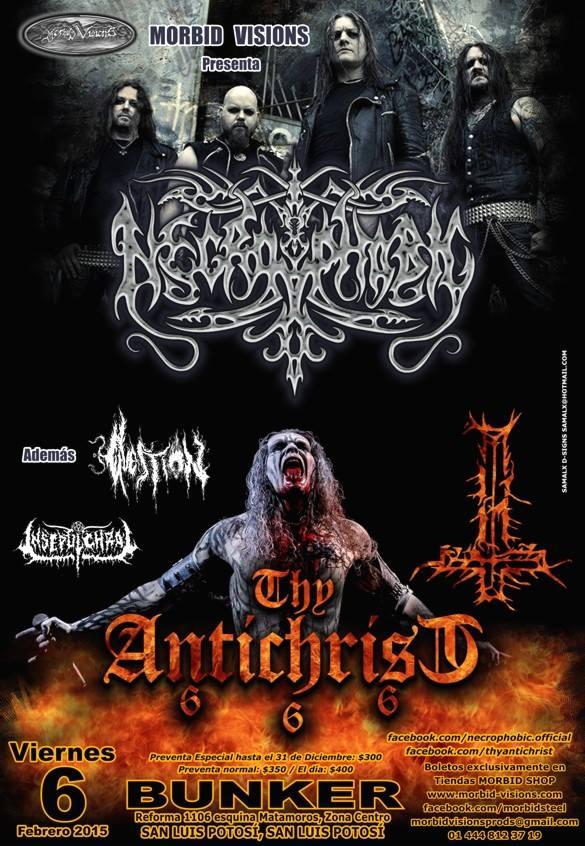 Necrophobic / The Antichrist / Question en San Luis Potosí @ Steel Metal Bunker | San Luis Potosí | San Luis Potosí | México