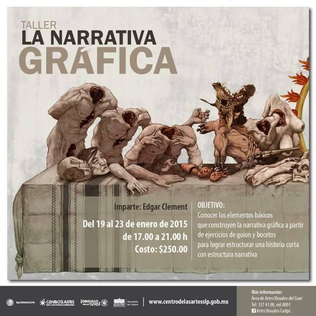 Taller de narrativa gráfica / Edgar Clement @ Centro de las Artes de San Luis Potosí