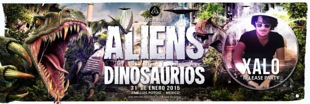 Aliens contra dinosaurios