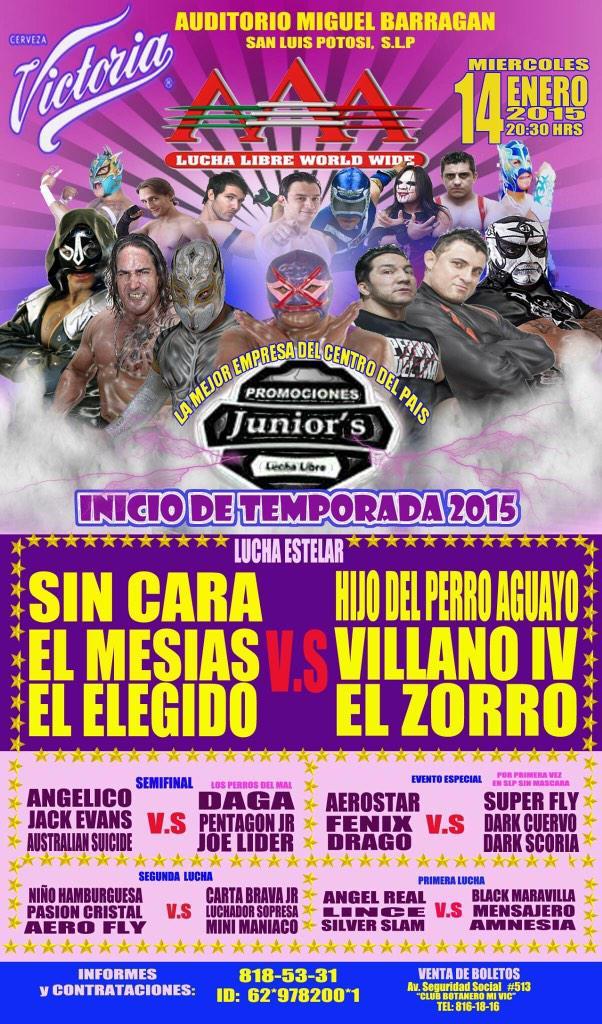 Lucha Libre inicio de temporada 2015 @ Auditorio Miguel Barragán | San Luis Potosí | San Luis Potosí | México