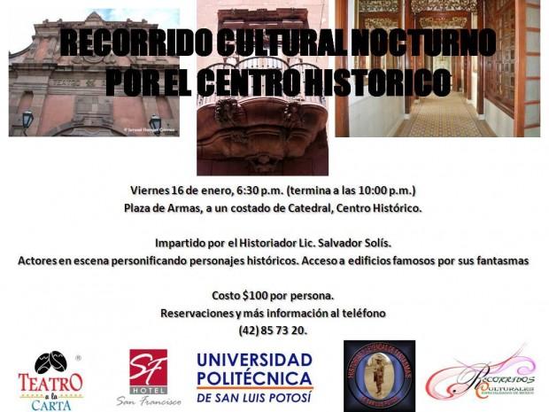 Recorrido Cultural Nocturno por el Centro Histórico