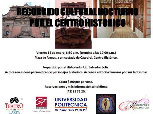 Recorrido Cultural Nocturno por le Centro Histórico de SLP @ Plaza de Armas | San Luis Potosí | San Luis Potosí | México
