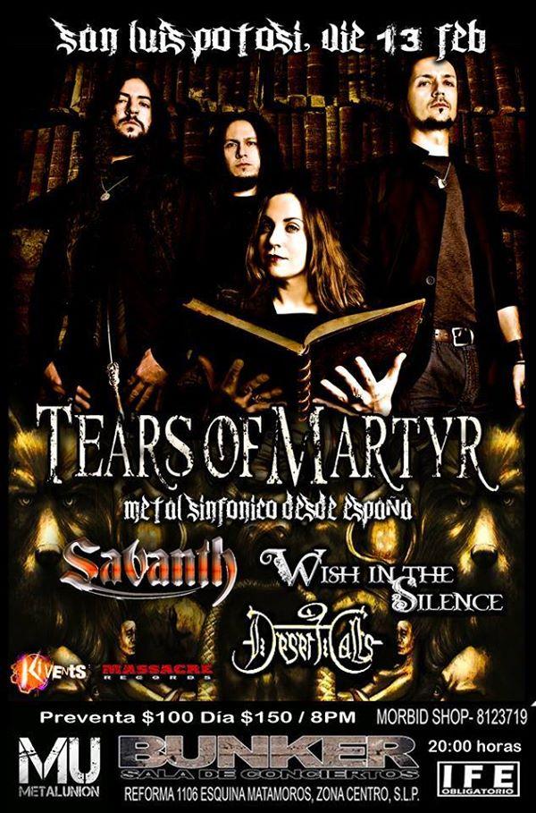 Tears of Martyr en San Luis Potosí @ Steel Metal Bunker