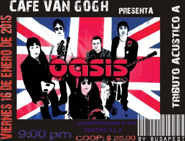 Tributo acústico a Oasis @ Café Van Gogh