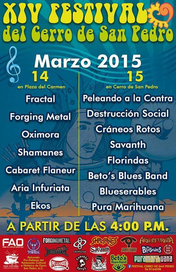 programa XIV Festival San Pedro