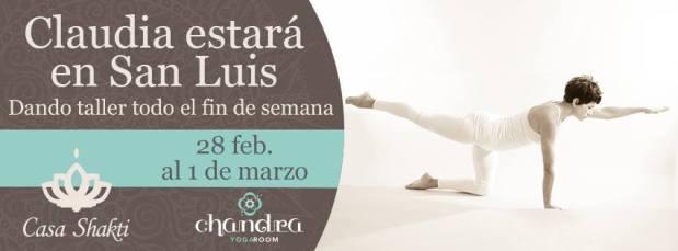 Claudia Gonzalez en Chandra Yoga Room @ Chandra Yoga Room | San Luis Potosí | San Luis Potosí | México
