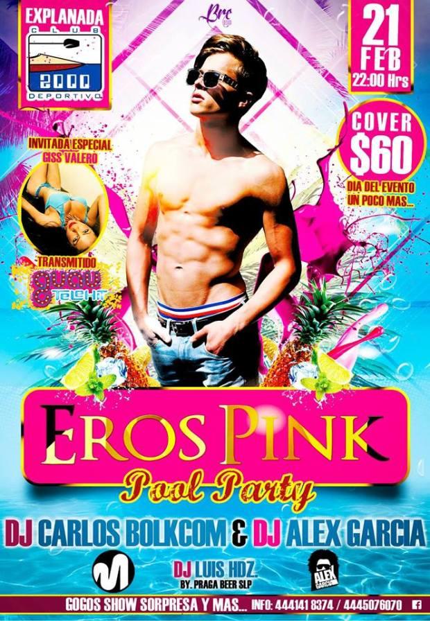 Eros Pink Pool Party @ Club Deportivo 2000