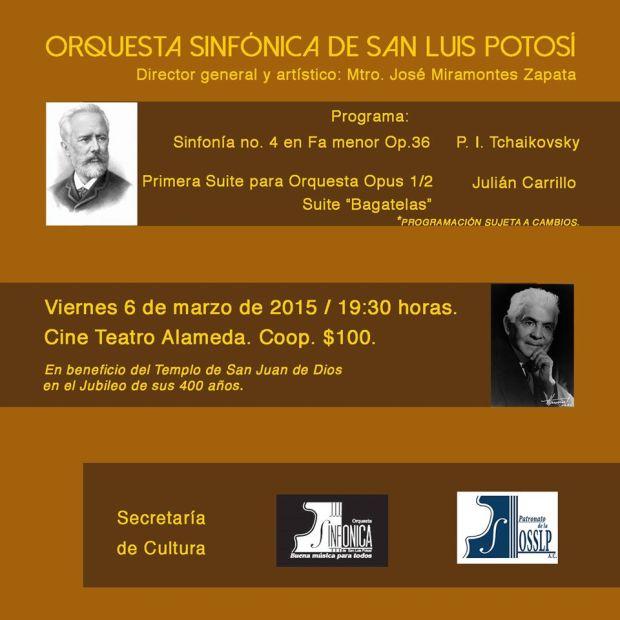 OSSLP en concierto por los 400 años del Templo de San Juan de Dios @ Cineteca Alameda