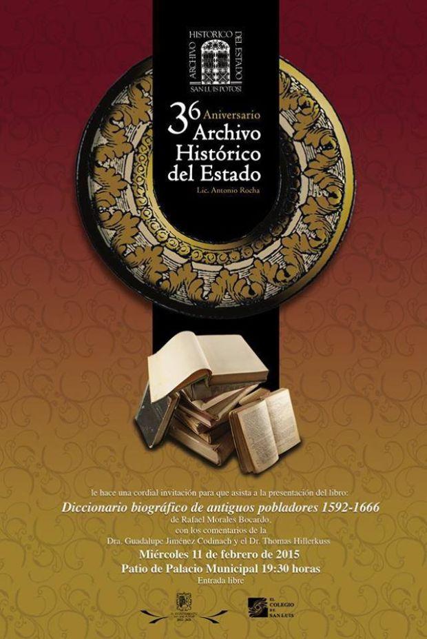 Primeros Pobladores de San Luis (Presentación Libro) @ Archivo Histórico del Estado | San Luis Potosí | San Luis Potosí | México