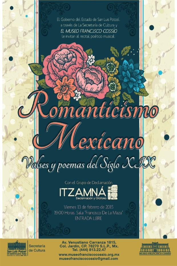 Romanticismo mexicano: Vals y poemas del siglo XIV @ Museo Francisco Cossío