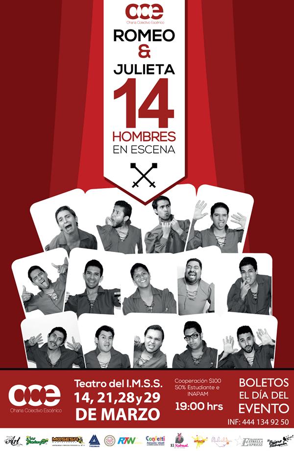Tercera temporada de Romeo y Julieta, 14 hombres en escena @ Teatro del IMSS | San Luis Potosí | San Luis Potosí | México