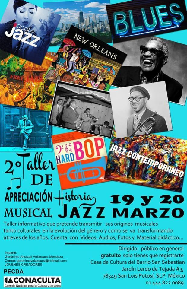 2° Taller de Historia del jazz @ Casa de Cultura del Barrio de San Sebastián  | San Luis Potosí | San Luis Potosí | México