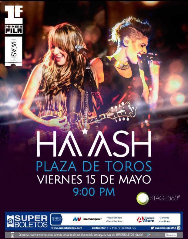 Ha-Ash en San Luis Potosí @ Plaza de Toros el Paseo | San Luis Potosí | San Luis Potosí | México