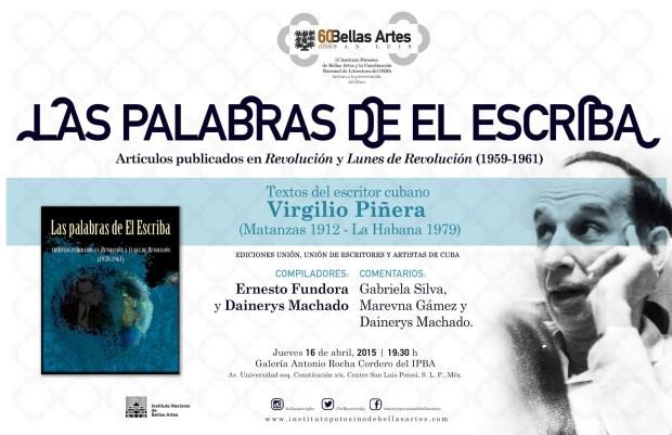 """""""Las palabras de el escriba"""" @ Instituto Potosino de Bellas Artes"""