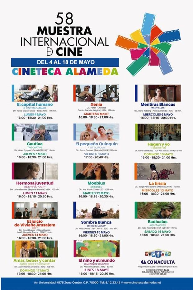 58 Muestra Internacional de Cine @ Cineteca Alameda | San Luis Potosí | San Luis Potosí | México