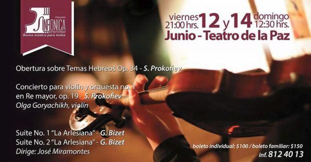 Concierto Orquesta Sinfónica de San Luis Potosí Junio 2015