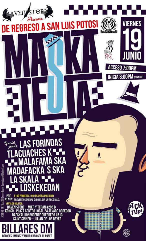 Maskatesta en San Luis Potosí @ Billares DM | San Luis Potosí | San Luis Potosí | México