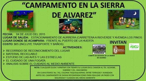 Campamento a la Sierra de Alvarez